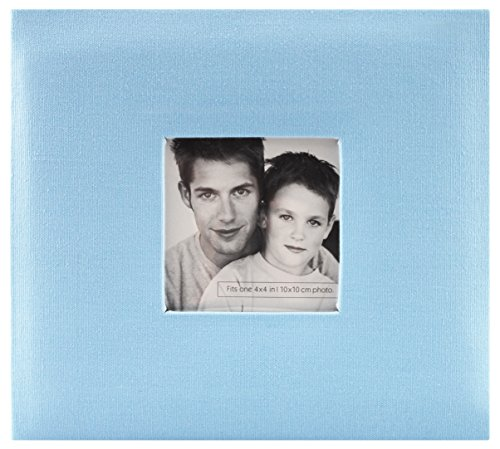 (MCS MBI 9.6x8.5 Inch Fashion Fabric Scrapbook Album with 8x8 Inch Pages with Photo Opening, Blue (802814))