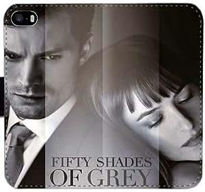 Cincuenta sombras de gris del Funda iPhone Y5P4O Caso 6 6S 4.7 Cartera de cuero funda m84nA6 duro tirón del teléfono Funda caso de las mujeres