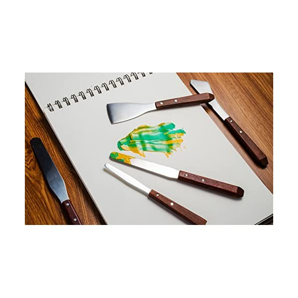 Lightwish-5pcsSet-Wooden-Handles-Palette-Knives-Japanese-Stainless-Steel-Blades-with-Good-Flexibility-and-Durability