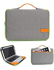 iCozzier 13-13.3 inch Vital Mixed Color Laptop Sleeve Handbag/Multifunctional Protective Business Case Cover Bag/Unique Stylish Design Laptop Briefcase for 13 Inch Ultrabook/Notebook/ MacBook- Gray