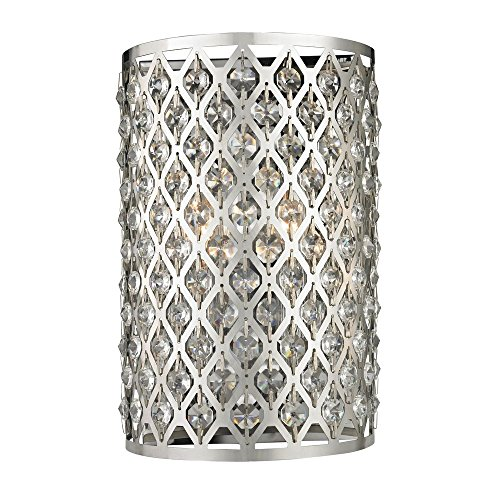 Modern Crystal Wall Sconce with Two Lights