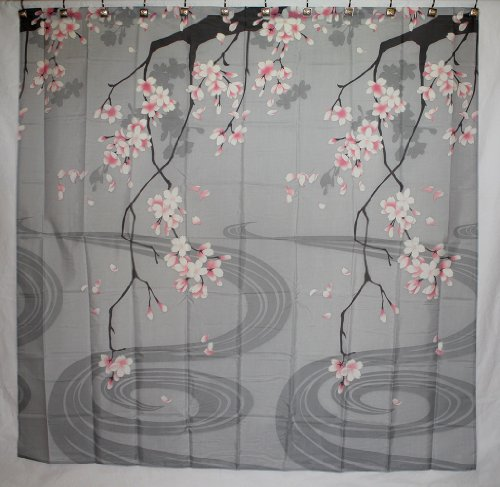 Amazon.com: Traditional Japanese Cherry Blossom Art 100% Polyester ...