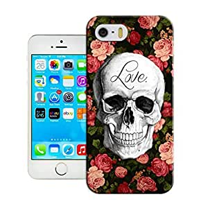 LarryToliver Hot iphone 5/5s Logo Case Cover for Customizable Skull art illustration