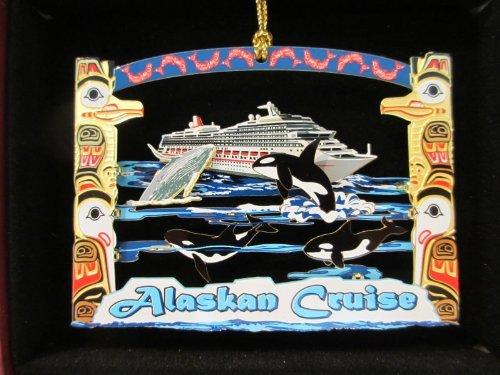 - Alaskan Cruise Christmas ORNAMENT Souvenir Gift Whales Ship Salmon Totem Poles