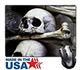 "MSD Natural Rubber Mouse Pad/Mat with Stitched Edges 9.8"" x 7.9"" IMAGE ID: 5717446 Skulls and bones in the bone chapel in Kutna Hora Czech Republic"