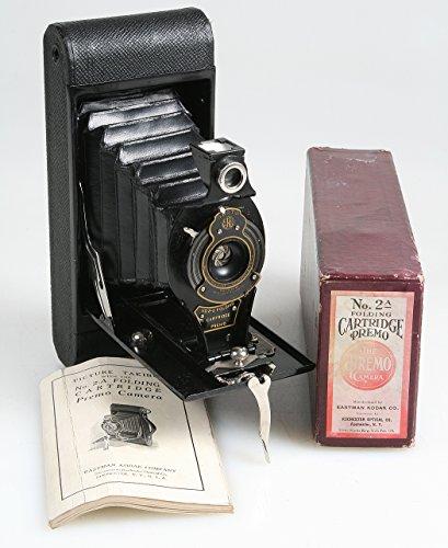 RARE KODAK NO 2 FOLDING CARTRIDGE PREMO BALL BEARING CAMERA WITH ORIGNAL BOX & - Kodak Bearing
