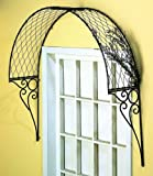 ENGLISH OVERDOOR TRELLIS Door Lattice Topper Arch Metal Indoor Outdoor Outside