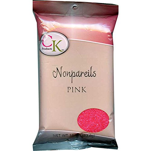 CK PRODUCTS 1 LB NON-PAREILS PINK (2PK) - DECORATING SPRINKLES