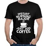 mr coffee pre filters - MAsdfgrr Men's Instant Nursing Major Just Add Coffee Short Sleeve T Shirt Color Black Size XL