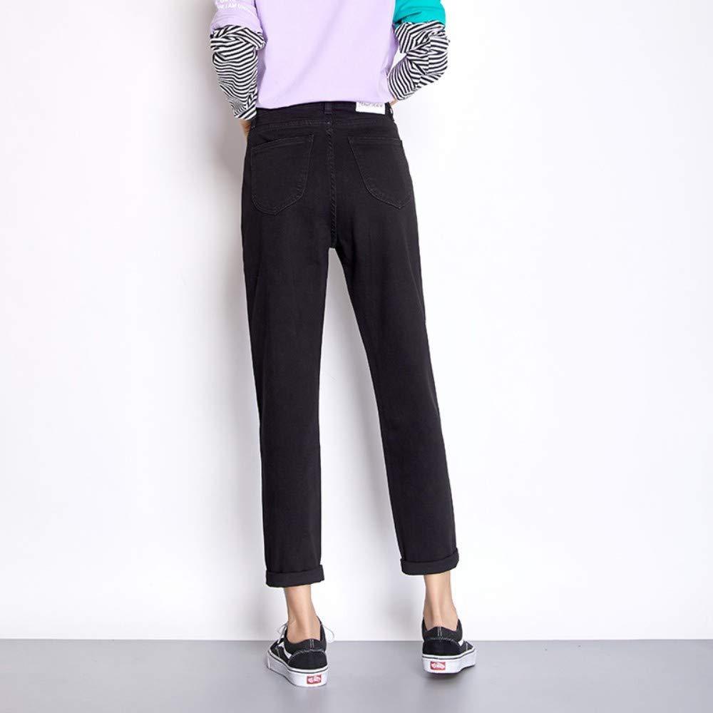 RLWFJXH Jean Mujer Nuevo Otoño Casual Pantalones Vaqueros ...