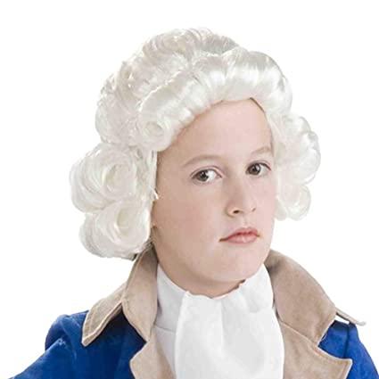 RANRANHOME Niña Colonial Hombre Peluca, Pelo Rizado Juez Sombreros Accesorios De Disfraces De Lujo
