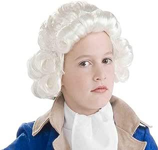RANRANHOME Niña Colonial Hombre Peluca, Pelo Rizado Juez Sombreros ...