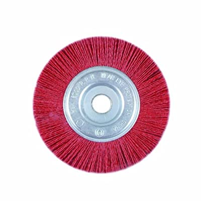 Task Tools T25659 1/2-Inch to 5/8-Inch Coarse Nylon Wheel Brush with 6-Inch Diameter