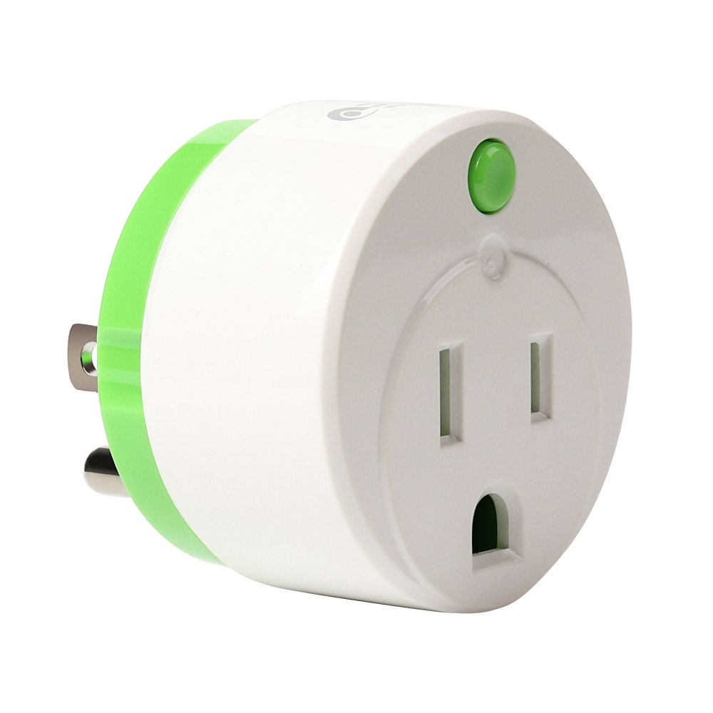 NEO Z-Wave Plus Smart Mini Plug Z-Wave Outlet & Range Extender On/Off Plug-in Switch Home Automation, Work with Wink, SmartThings, Vera, Fibaro & more, Summer Green (1PK)