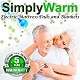 SimplyWarm Electric Heated Channel Quilted Mattress