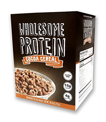 Diet Cereal (Protein Cereal, Low Carb Cereal, High Protein Cereal, 15g Protein, 4g Net Carbs, High Performance Cereal, 5 Individual Macro-Controlled Packages (Cocoa))