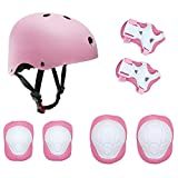 TOPFIRE Children's Scooter BMX Bike Helmet, Gel Knee, Elbow Pads and Hand Pads