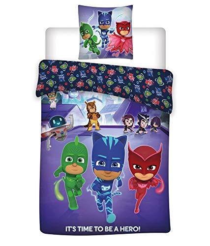 Copripiumino 100 X 140.P J Masks Kids 100 Cotton Super Soft Set Of Bed Set Duvet Cover And Pillow Cover
