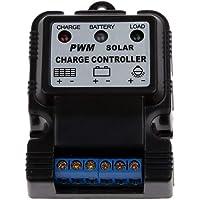 Controlador de carga solar, PWM 6V / 12V 3A Panel solar portátil Regulador del regulador del cargador con indicador LED Nuevo
