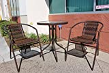 JOYPANDA Outdoor Patio 3 Piece Bistro Furniture Set with Round Balcony Pub Table