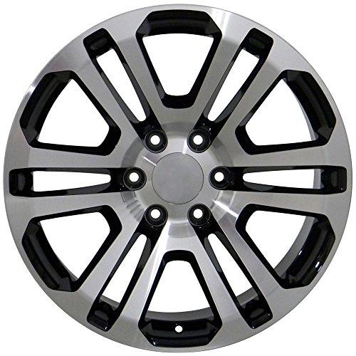 amazon oe wheels 20 inch fits chevy silverado tahoe gmc sierra 1996 GMC Savana 3500 amazon oe wheels 20 inch fits chevy silverado tahoe gmc sierra yukon cadillac escalade cv99 black mach d 20x9 ck158 rim hollander 4741 set automotive