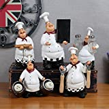 XUEXIN American Village Retro Chef Decoration Home Furnishings Crafts Practical Bar Cafe Restaurant Creative , a set of 5