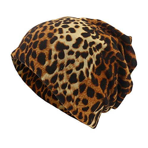 (Scarfs for Women Lightweight,Unisex Leopard Print Scarf Beanie Cap Casaul Outdoor Convertible Windproof Hats,Women's Bracelets,Brown,One Size)