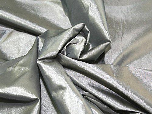 Plain Shot Taffeta Dress Fabric Silver - per metre