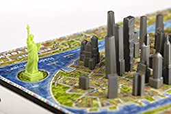 4D Cityscape Mini Puzzle (193 Piece), New York