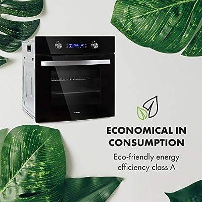 Klarstein Gusteau Delicatessa lote de horno empotrado + encimera empotrada - eléctrico, placa de inducción de 4 zonas/vitrocerámica, Horno: 64 litros/EEC A / 50-250 ...