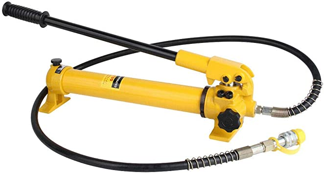 EWANYO CP-700 Manual Hydraulic Hand Pump 2 Speed Power Pack Hose Coupler Without Oil Gauge Hydraulic Oip Pump Hand Operated Pump Hydraulic Hand Pump Manual Pump for Connecting Split Unit 10000 psi