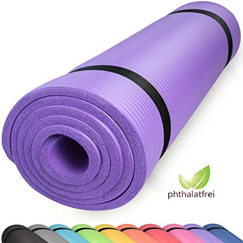 PIDO Esterilla de ejercicio de yoga con correa de transporte antideslizante ligera