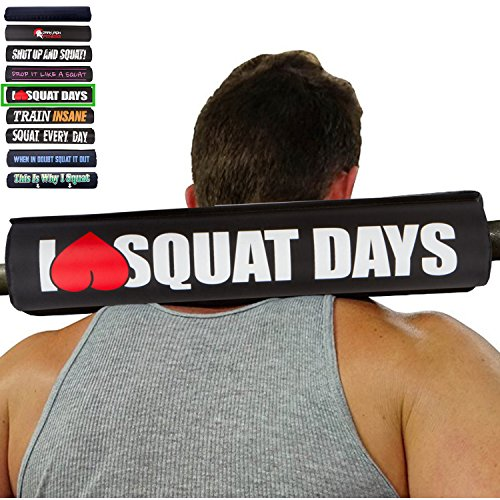 I heart love squat days red barbell squat neck pad for olympic bar women squats padding diameter density fitness shoulde prop standard sets rubber roll plus portable padded supports for - Australia Free Shipping Within
