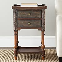 Safavieh American Homes Collection Marge Dark Brown End Table