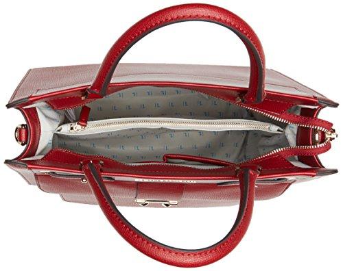 Trussardi Jeans 75b00033-1y090218, Borsa a Mano Donna, 10x18x21 cm (W x H x L) Rosso (Bordeaux)