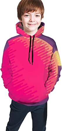 shenguang Sudadera con Capucha para niños Youth Hoodie Sweatshirt, Outer Space Pattern Realistic 3D Digital Printed Pullover Tops for Boys Girls 7-20 Years