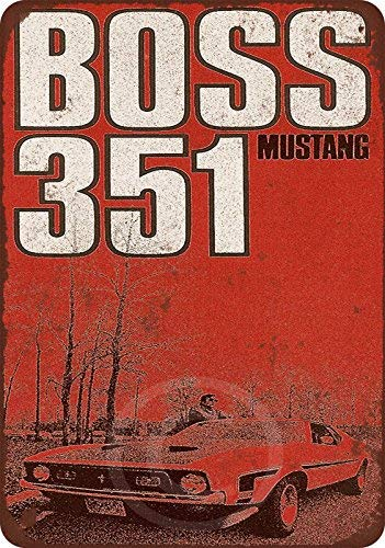 1971 Ford Mustang Boss 351 Reproduction Metal Sign 8 x 12