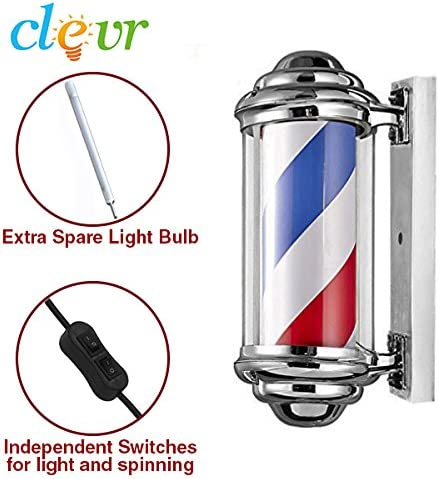 Clevr Polo barbero Led, girando Las Tiras de LED, señal de luz de ...