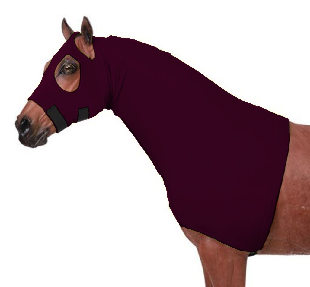Horse Sleazy Full Separating Zipper Slicker Hood Large/Burgundy