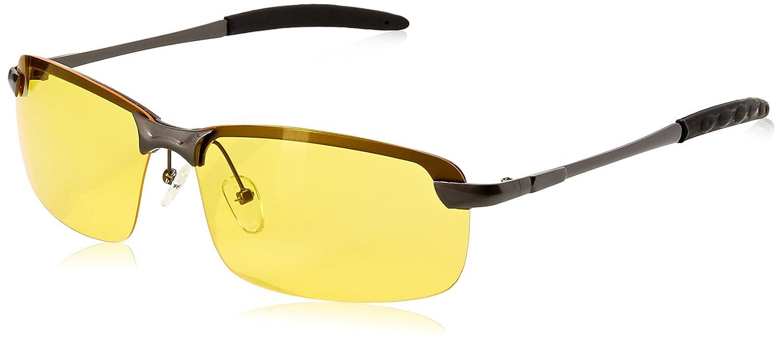 c9dbc4f09db Amazon.com  Night Vision View Square Rimless Glasses Goggles Metal Frame ¡   Clothing