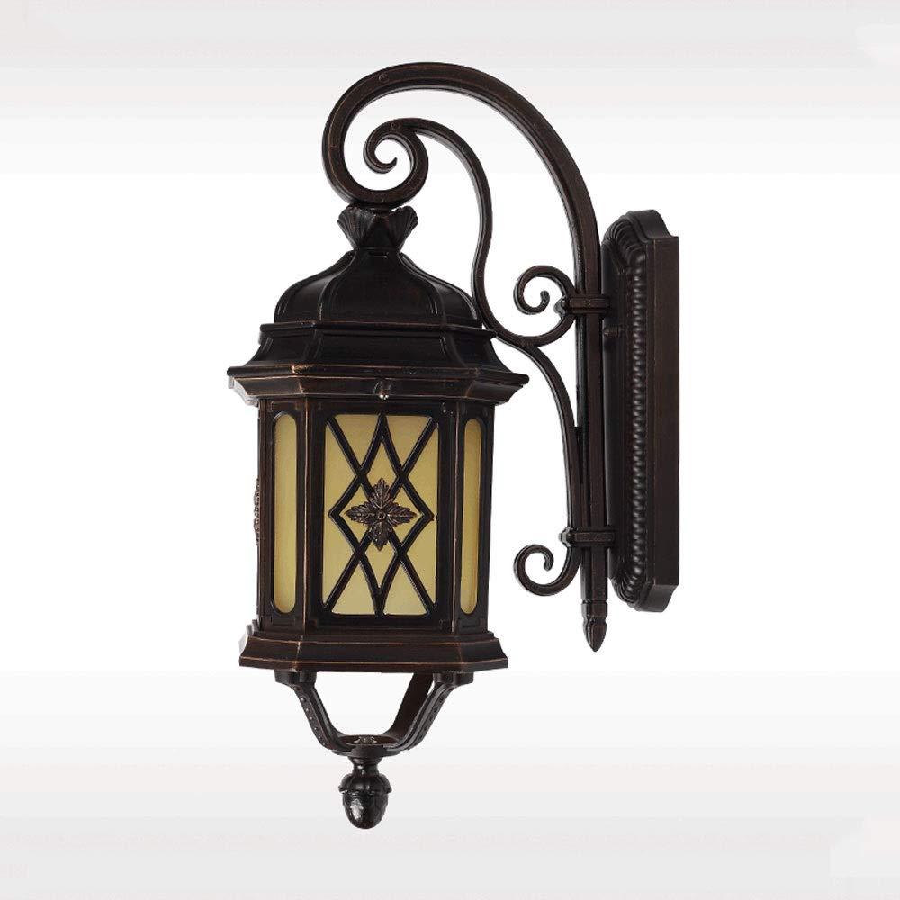LDDENDP Lampada da parete per esterni Semplice Lampada da parete per giardino europeo retrò Lampada da giardino Lampada da parete per balcone Lampada da parete per villa esterna Corridoio Corridoio La