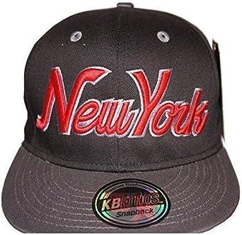 KB Ethos New York Gorras con Visera Plana, Retro Vintage Gorra ...