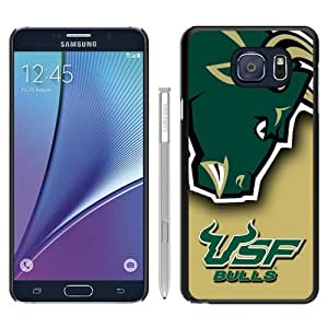 Samsung Galaxy Note 5 Case ,NCAA American Athletic Conference AAC Football South Florida Bulls 6 black Samsung Galaxy Note 5 Cover Fashionable And Unique Custom Designed Phone Case