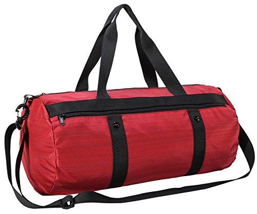 MIER Sports Gym Bag für Frauen und Damen mit Schuhtasche, Fass Travel Duffle Holdall, 35L, Rot