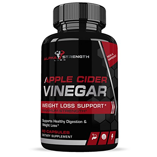 Apple Cider Vinegar Capsules - Promotes Healthy Digestion - All-Natural Cleansing Ingredients - Encourages Appetite Suppression - 1 Month Supply - 60 Capsules - Alpha Strength Labs