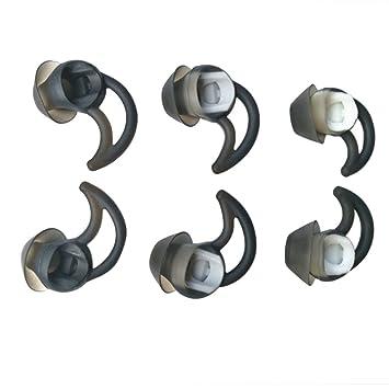 Deylaying Silicona Almohadillas de Repuesto Para Auriculares para BOSE QC30 QC20 IE2 SIE2 MIE2 Soundsport Auriculares