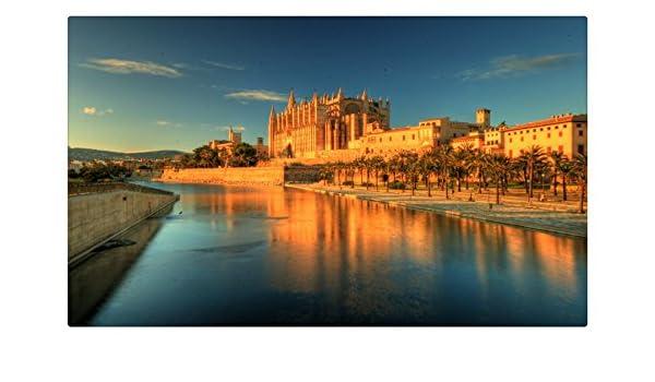 España Costa hdr Islas Baleares Palma ciudades sitios de viajes postal Post tarjeta: Amazon.es: Oficina y papelería