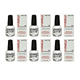 Probelle Nail Strengthener Formaldehyde Free, Fast Dry and High Gloss, 0.5 Fl Oz (6 pack)