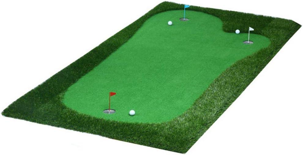 インドアマットゴルフミニアーティフィシア ゴルフパッティンググリーンシステムプロフェッショナル人工ポータブルグリーンミニ屋内パターエクササイザー環境オークバレーグリーン サーフェスフラッグアクセサリー (色 : Thicken, サイズ : 2*4m) Thicken 2*4m