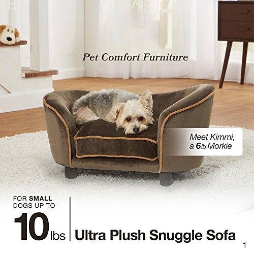 Enchanted Home Pet Ultra Plush Snuggle Pet Bed In Dark Grey by Enchanted Home Pet (Image #1)